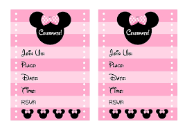 Free Printable Minnie Mouse Invitation Template by Baby Shower Invitations Interesting Free Printable Minnie Mouse