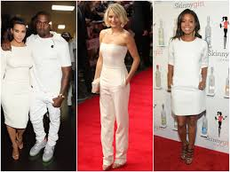 kim kardashian kanye west bet awards wearing white cameron diaz