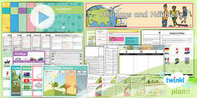 holidays and hobbies the weather year 4 lesson pack 2