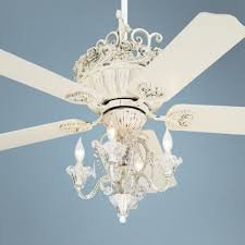 Chandelier Ceiling Fans With Lights Amazing 52 Casa Chic Rubbed White Ceiling Fan With 4 Light Kit On