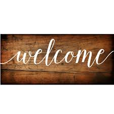 welcome sign vinyl decal diy wood signs wedding welcome sign