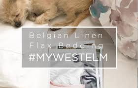 belgian flax linen bedding mywestelm youtube