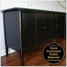 black distressed buffet makeover u2014 the thinking closet