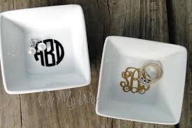 monogrammed dishes monogram ring dish idealpin