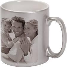 silver mug metallized silver mug 1x print for a right hander a photo gift