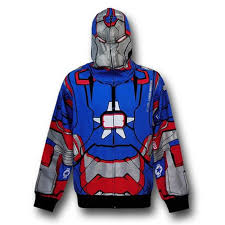 Iron Patriot Halloween Costume Iron Man 3 Iron Patriot Zip Costume Hoodie