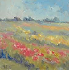 heidi malott original paintings impressionist gardens spring