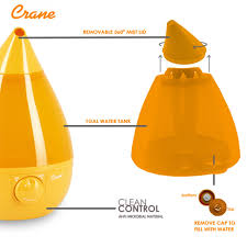 crane ultrasonic cool mist humidifier orange drop amazon ca baby