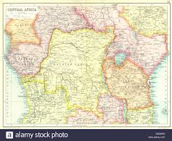 East Africa Map Central East Africa French Belgian Congo British German Kenya
