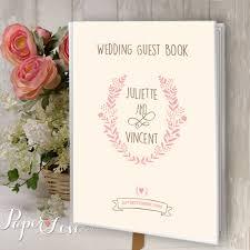large wedding guest book large wedding guest book personalised custom made flower pink