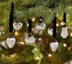 mini mercury glass shaped ornaments set of 24 pottery barn