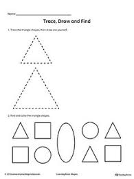 recognizing shapes tracing shapes shape activities and worksheets