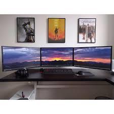 Computer Desk Setup 1170 Best Computer Desk Setup Images On Pinterest Desk Setup Pc