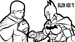 batman superman coloring book coloring pages kids fun art