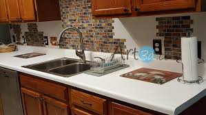 stick on backsplash for kitchen self adhesive mosaic tile backsplash color subway tile set of 6