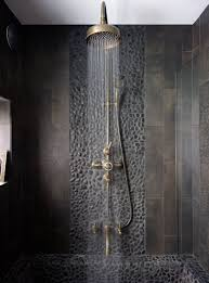 scintillating cave bathroom pictures ideas it s back to black with this bold shower room in brassware