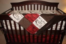 cowboy crib bedding brown cowboy brown minky and red barn wood
