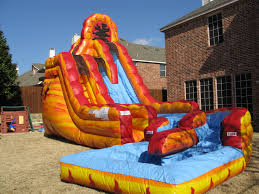 2 Story House With Pool Water Slides For Rent In Dallas Bounce House Water Slide Rentals