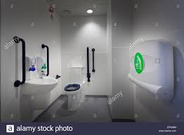 disabled toilet with hand basin and fold down baby changing