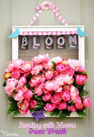 Reath Design Bursting With Blooms Frame Wreath Little Miss Celebration