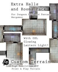 extra halls and rooms pack custom terrain digital dungeons
