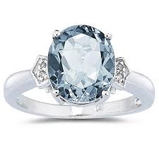 images of diamond rings aquamarine diamond ring in 10k white gold jewelry