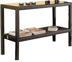 Patio Buffet Server by Amazon Com Soho Patio Console Table W Lower Shelf Wicker Weave