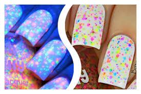 freckles neon custom blended neon glitter nail polish