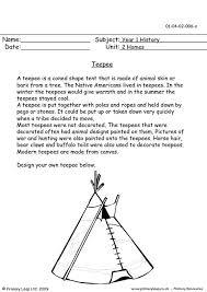 primaryleap co uk teepee worksheet