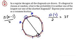 What Is The Interior Angle Of A Regular Decagon Diagonals Of A Decagon Mathcounts Prep Youtube