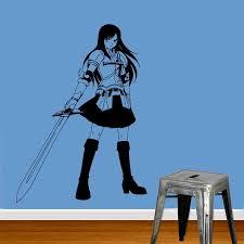 wall viinyl sticker decal art mural anime manga girl with gun wall viinyl sticker decal art mural anime manga girl with gun d1568 muralartdecals