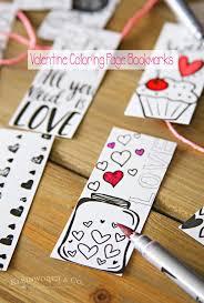 valentine printable coloring bookmarks kleinworth u0026