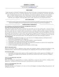 Fire Department Resume Fire Chief Resume Eliolera Com