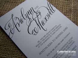wedding invitations calligraphy chic calligraphy wedding invitations by flamboyant designs