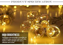 copper globe string lights string lights on wire led globe copper bulbs for garden clear white