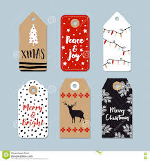 vintage christmas gift tags set hand drawn labels with christmas