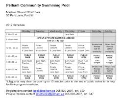 swimming programs town of pelham