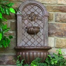 Water Fountain Home Decor Sunnydaze Venetian Solar Outdoor Wall Fountain Fountains