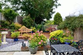 low maintenance small low maintenance english garden stock photo picture and
