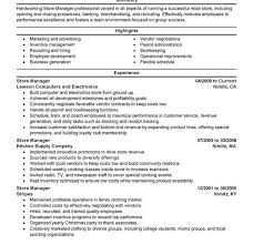 Inventory Management Resume Sample by Store Manager Resume Sample Retail Store Manager Resume Example