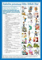 english teaching worksheets who which