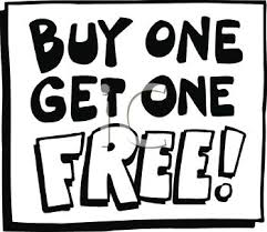 buy clipart buy one get one free sign royalty free clipart image