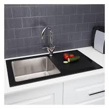 kitchen sink macerator 1 0 bowl kitchen sink with glass drainer