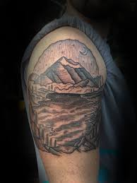 image gallery mountain scene tattoos
