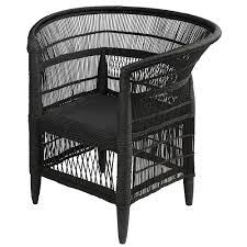 couette en bambou fauteuil en bambou et rotin noir malawi maisons du monde