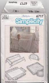 Simplicity Convertible Crib Simplicity 6717 Baby Crib Accessories Sewing Pattern One