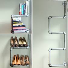 Wooden Material Element Comely Long Floating Desaign Inspiration For Creative Shoe Storage