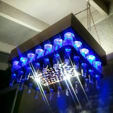 Chandelier Led Lights Aluminum Copper Colored Beer Bottle Led Light Chandelier With Cap