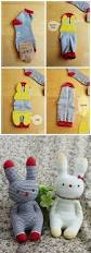 sock doll easter bunny instruction crafts pinterest sock