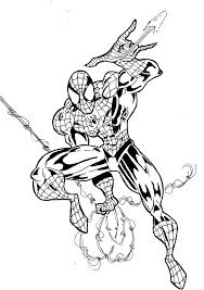 the pictures for u003e spider man comic drawing